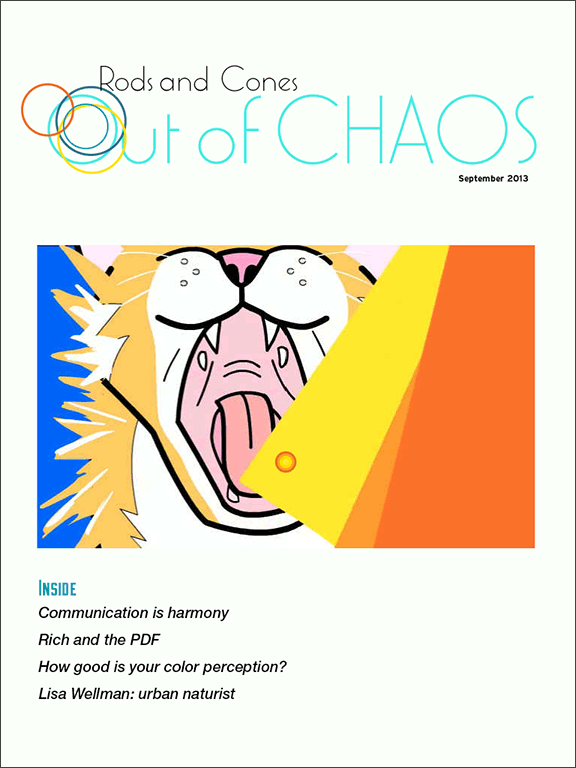 Out of Chaos: fall 2013: cover