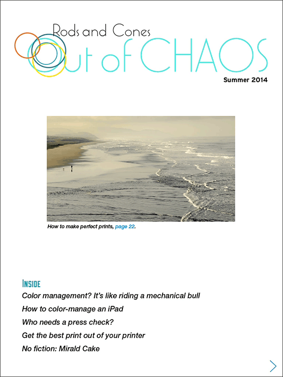 Out of Chaos: summer 2014: cover